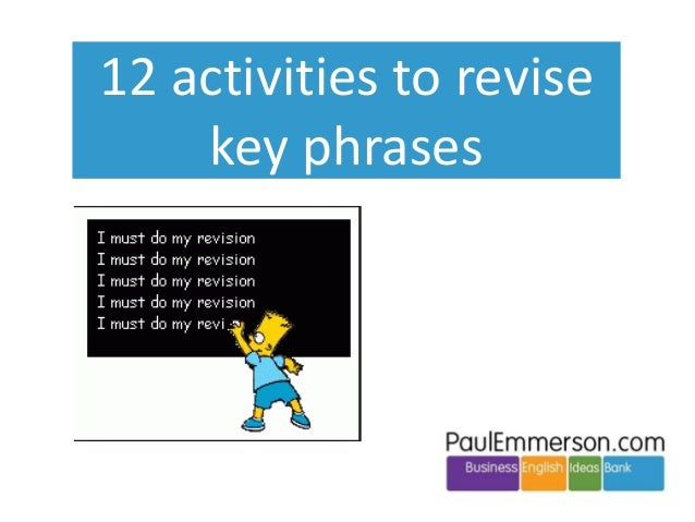 12 activities to revise key phrases