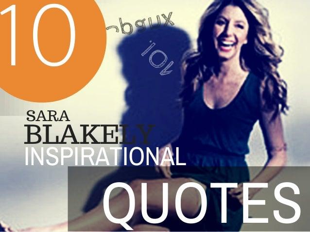 INSPIRATIONAL QUOTES SARA BLAKELY Spanx BILLIO NAIRE 10