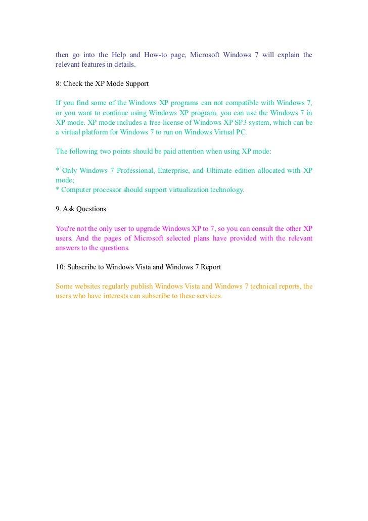 10 advices for windows 7 upgrade Slide 3