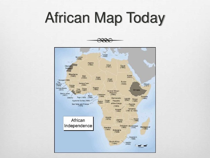 African Independence II - What does this map tells us about african independence