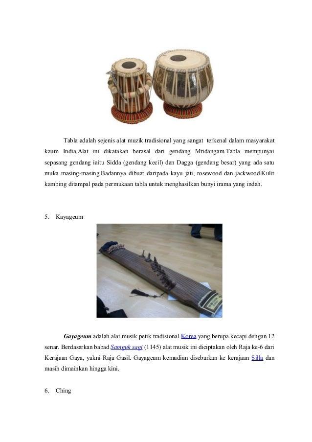 10 alat musik tradisional manca negara.