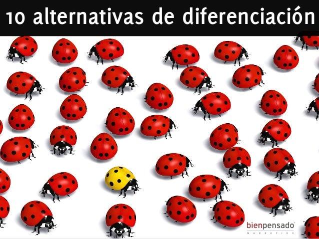 10 alternativas de diferenciación