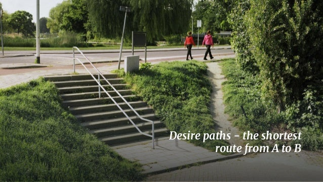 2 Desire paths - the shortest route from A to B