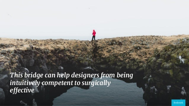 32 This bridge can help designers from being intuitively competent to surgically effective