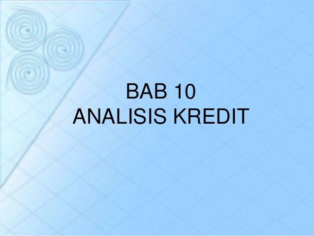 BAB 10ANALISIS KREDIT