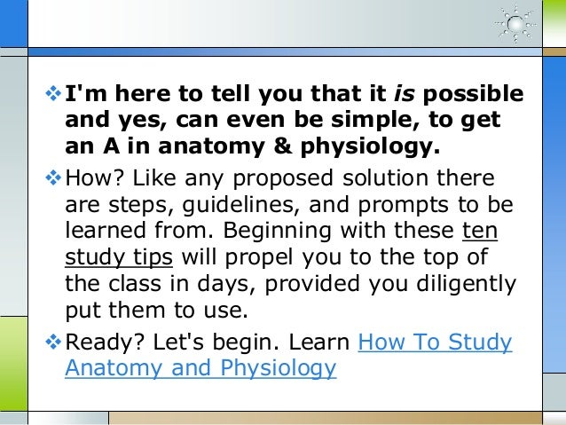 10 anatomy and physiology tips to get better grades