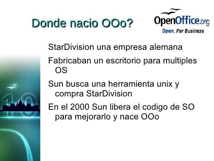 10 años de OpenOffice.org Slide 3
