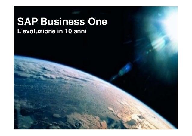 SAP Business OneL'evoluzione in 10 anni