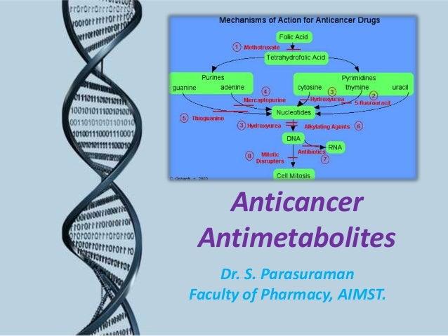 Anticancer Antimetabolites Dr. S. Parasuraman Faculty of Pharmacy, AIMST.