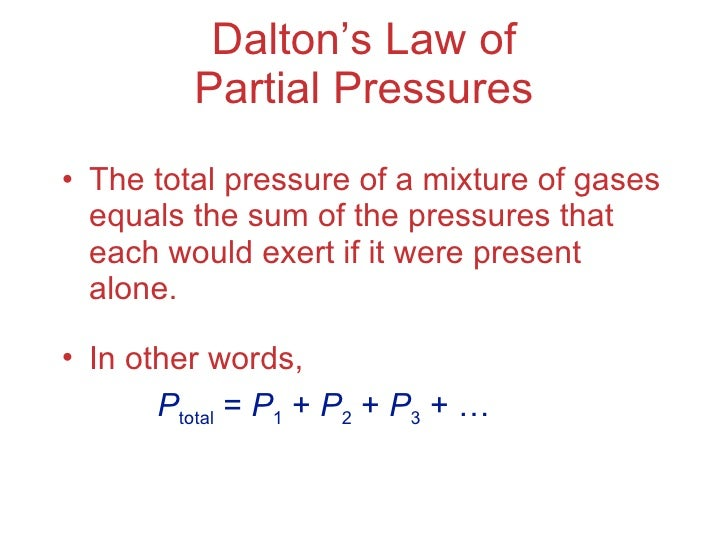 Chapter 10 Lecture Gases – Daltons Law Worksheet