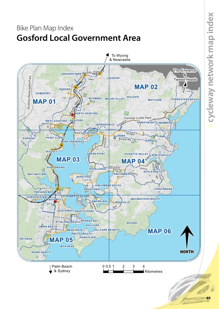 Gosford Cycleway Network