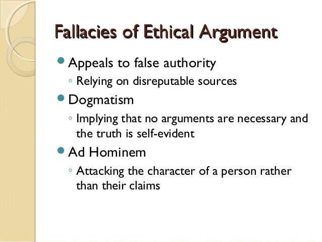 Ethical argument essay
