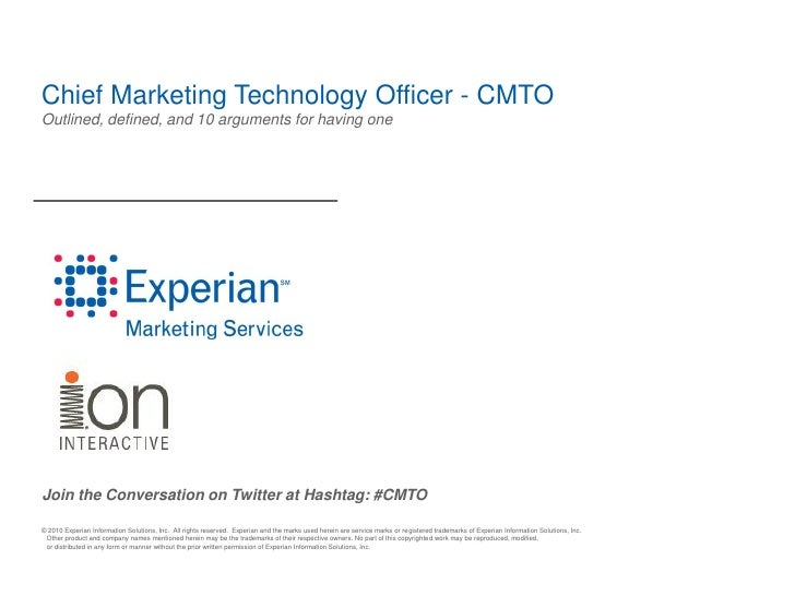 Chief Marketing Technology Officer - CMTOOutlined, defined, and 10 arguments for having oneJoin the Conversation on Twitte...