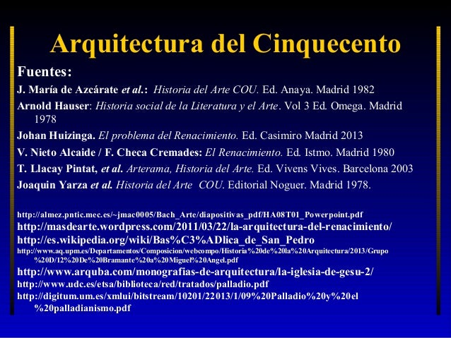 La arquitectura renacentista 2 el cinquecento for Historia de la arquitectura pdf