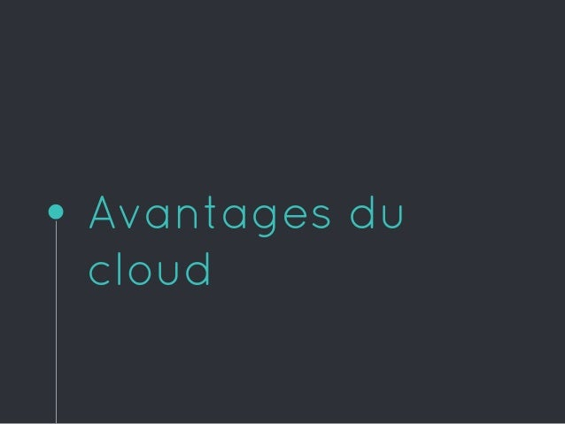 Avantages du cloud