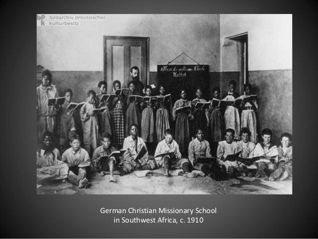 German Christian Missionary School in Southwest Africa, c. 1910