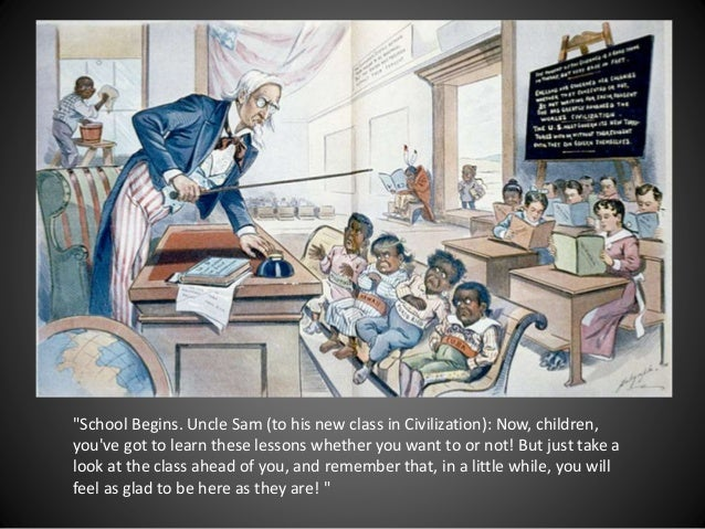 """""""School Begins. Uncle Sam (to his new class in Civilization): Now, children, you've got to learn these lessons whether you..."""