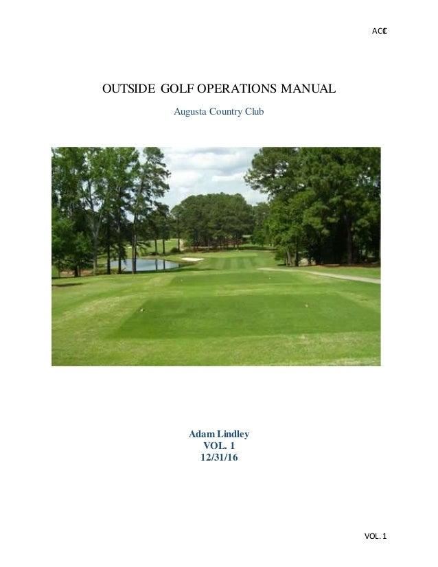 Golf operations manual.