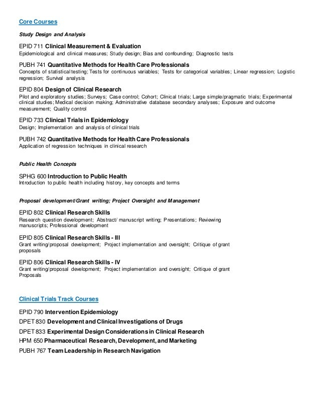 MSCR Courses