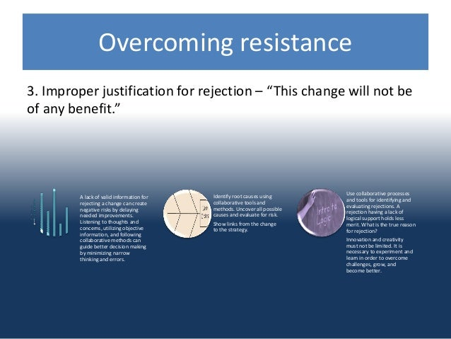 overcoming resistance to innovation To gain an appreciation that the adoption of innovation is a complex process involving a variety of a way to understand resistance to change is to use the.