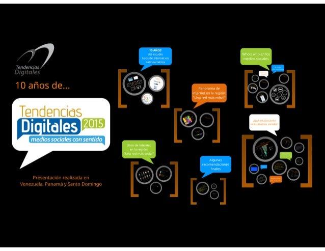 Tendencias Digitales 2015: Medios sociales con sentido