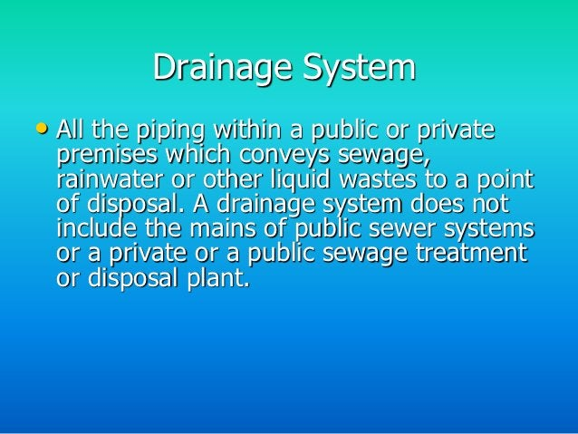 Sanitary Drainage and Vent          Piping System• The sanitary drainage and vent piping system are installed by the plumb...