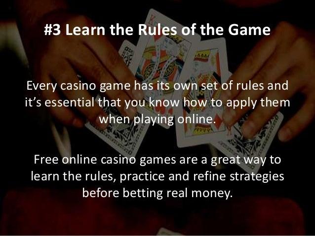 10 rules of gambling online gambling payout