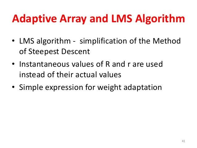 Array antenna and LMS algorithm