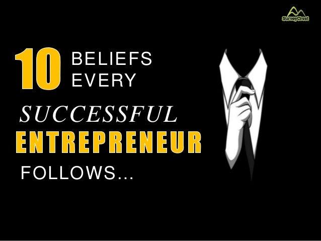 BELIEFS EVERY SUCCESSFUL FOLLOWS…