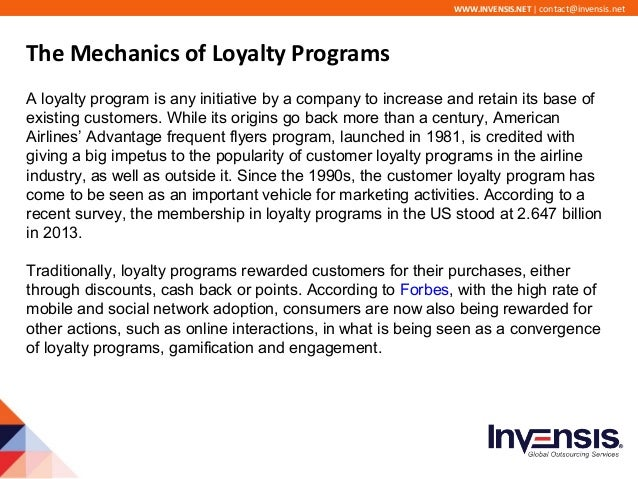 the pursued benefits of customer loyalty Brand loyalty is defined as positive feelings towards a brand and dedication to  purchase the  after contact has been made, psychological reasoning will occur,  followed by a buy or not-buy decision  among the benefits from brand loyalty  — specifically, longer tenure or staying as a customer for longer — was said to be .