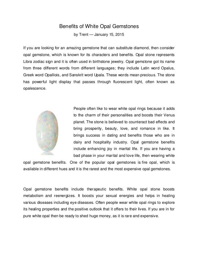 10 Benefits Of White Opal Gemstones