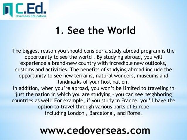 academic benefits of studying abroad