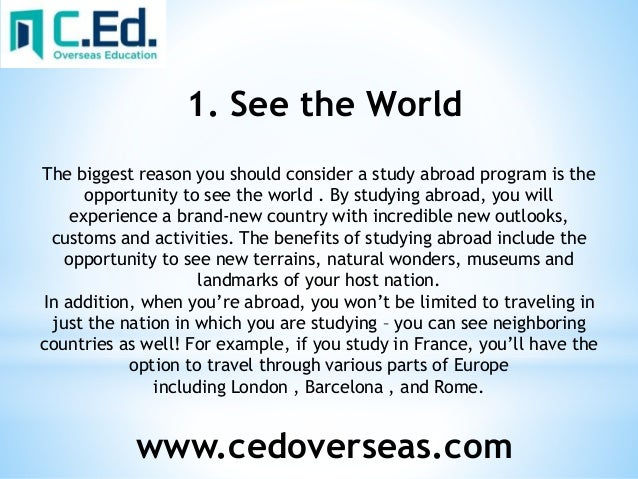 essay about studying abroad disadvantages