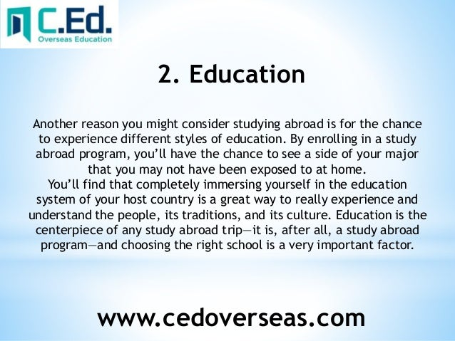 Benefit of studying abroad essay