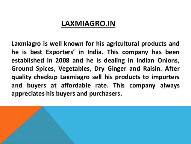 10 Best Agriculture Exporters in India
