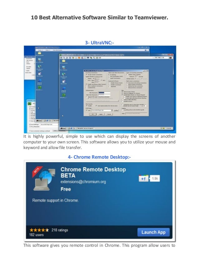 10 best alternative software similar to team viewer