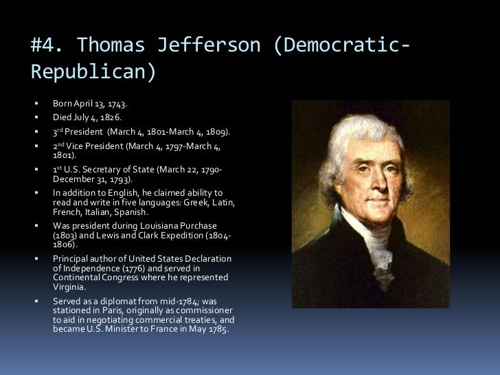 "was thomas jefferson a political compromiser essay Need essay sample on ap us history chapter 13 terms  called ""the great compromiser"" because  a political party started by thomas jefferson."