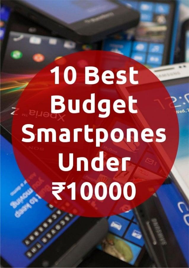 10 best budget smartphones under ₹10,000