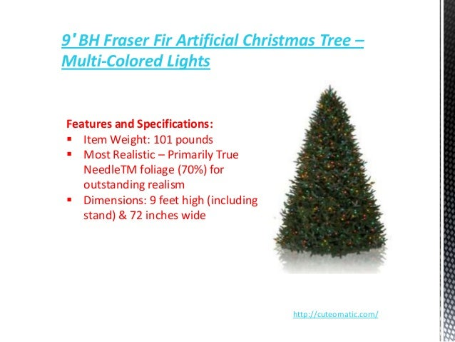 11 9 bh fraser fir artificial christmas tree - Most Realistic Christmas Trees