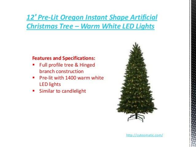 12 pre lit oregon instant shape artificial christmas tree - 12 Pre Lit Christmas Tree