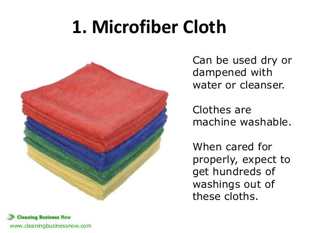 1. Microfiber Cloth Can be used dry or dampened with water or cleanser. Clothes are machine washable. When cared for prope...