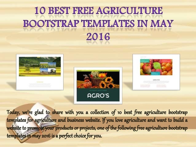 bootstrap templates in may 2016 today were glad to share with you a collection of 10 best free