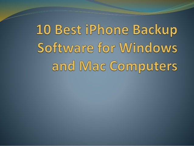 The Best Backup Software For Mac