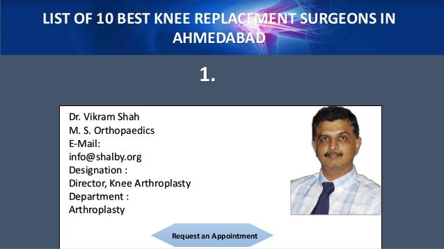 Experts in Knee Replacement Surgery; 3. LIST OF 10 ...