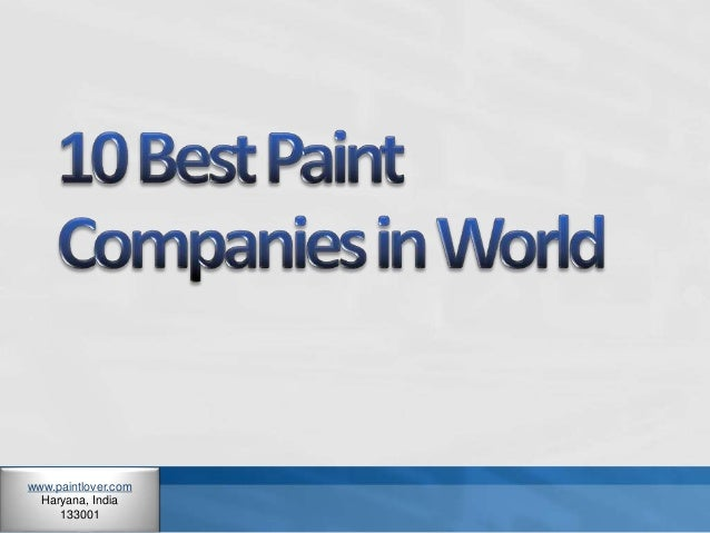 10 best paint companies in world