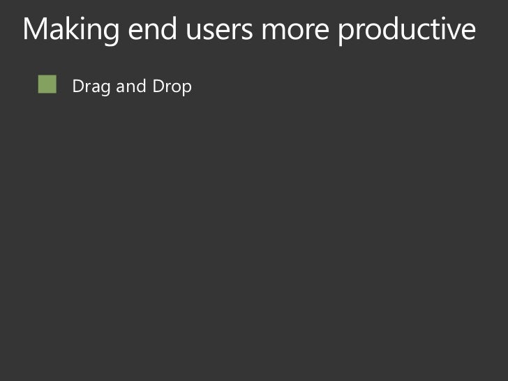 Drag and DropMy TasksOutlook IntegrationRollups / Aggregation CapabilityActivity FeedsProjects and DeadlinesSimplified Sha...
