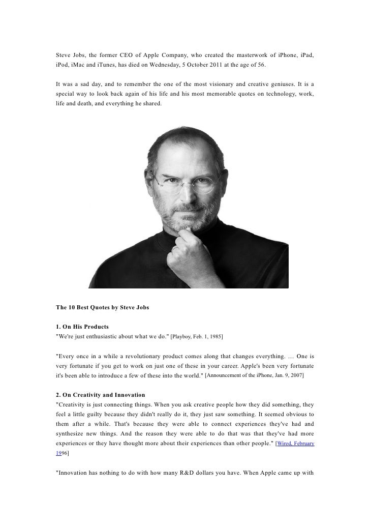 10 best quotes by steve jobs
