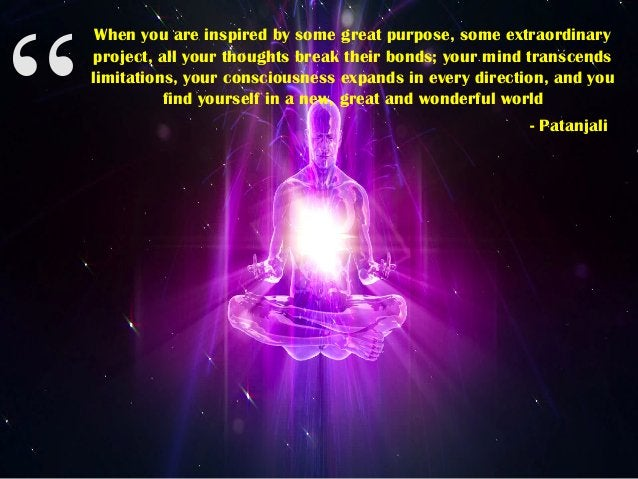 """"""" When you are inspired by some great purpose, some extraordinary project, all your thoughts break their bonds; your mind ..."""