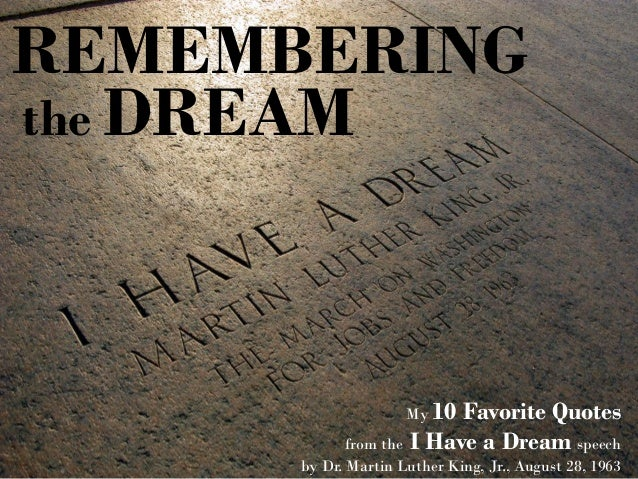 Best Dream Quotes The 10 best quotes from I Have a Dream Best Dream Quotes