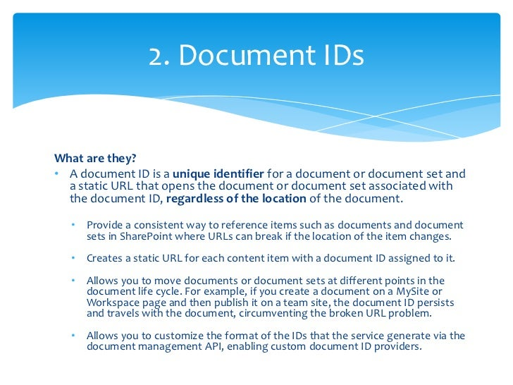 Document IDs must be activated as a SiteCollection feature, and then enabled